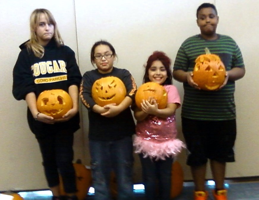 neighborhood events - Pumpkin Carving Contest winners