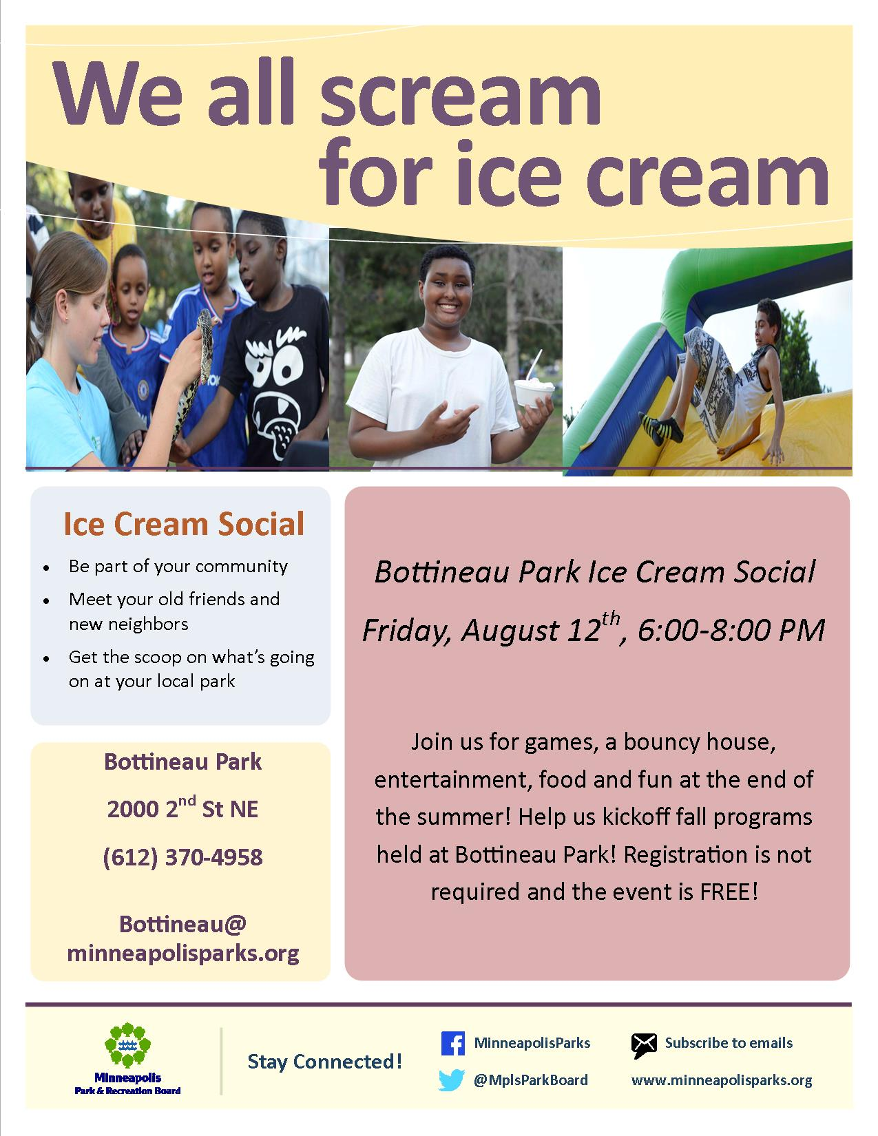 Bottineau Ice Cream Social 08-12-16