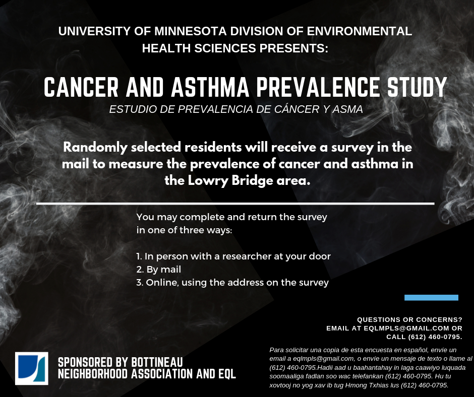 CANCER AND ASTHMA PREVALENCE STUDY